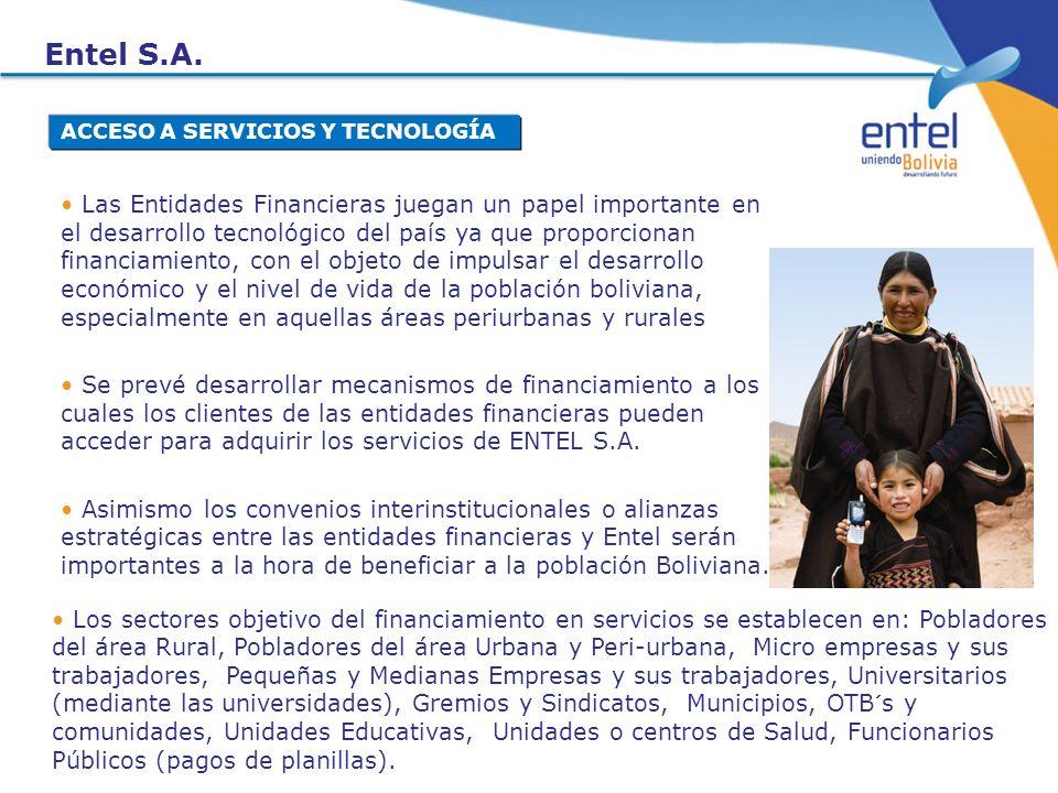 Entel S.A. ACCESO A SERVICIOS Y TECNOLOGÍA.