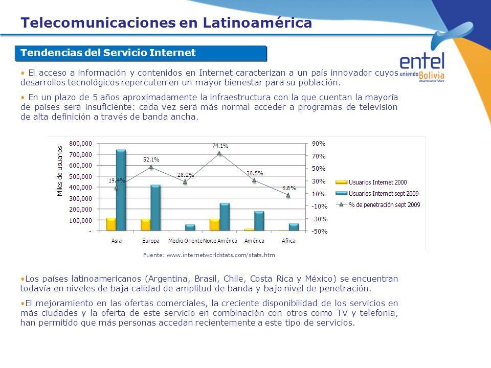 Telecomunicaciones en Latinoamérica