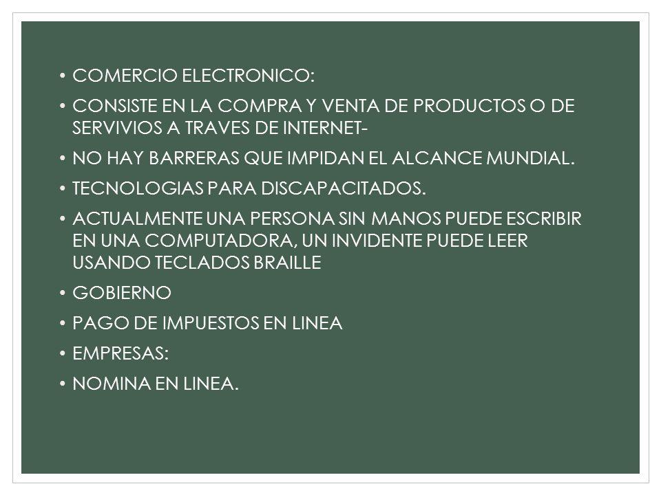 COMERCIO ELECTRONICO: