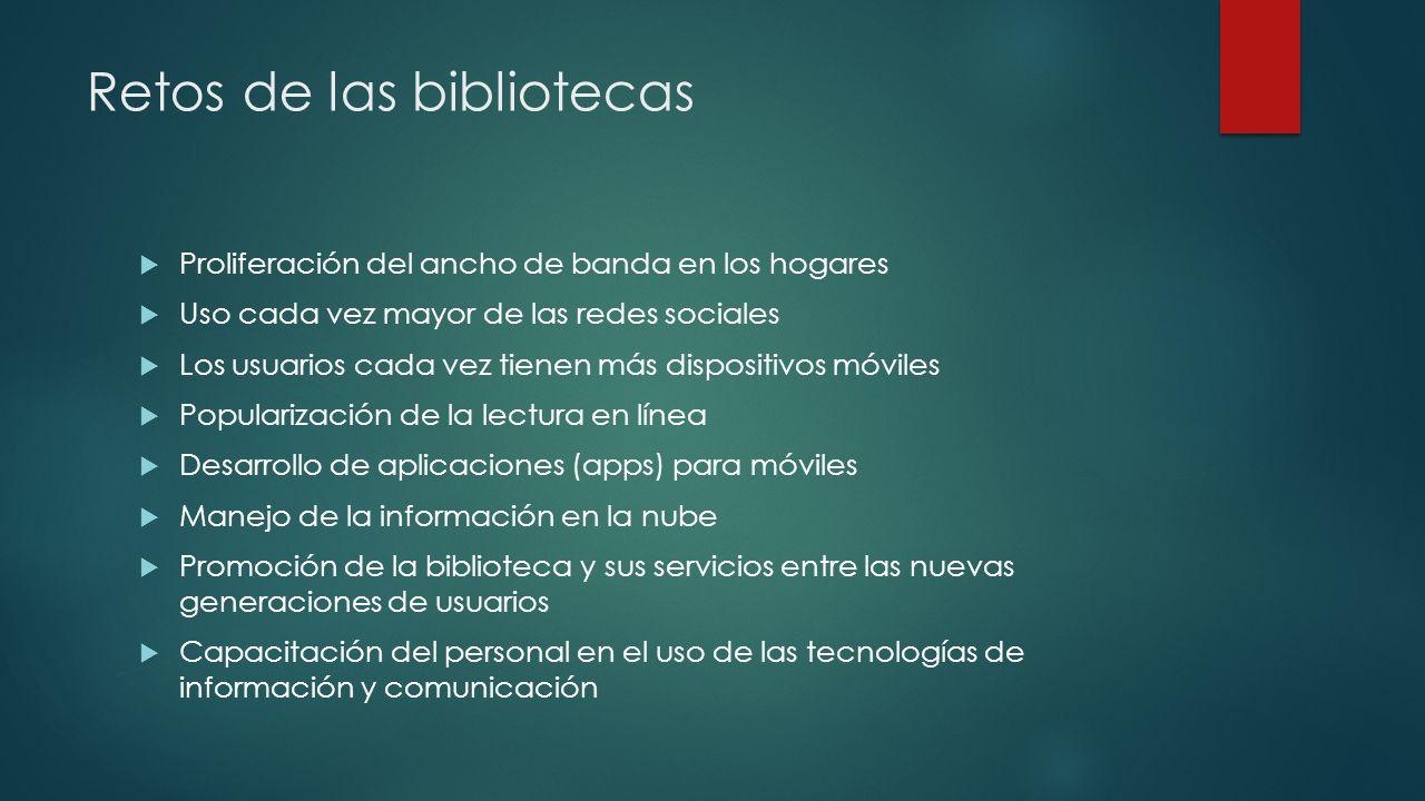 Retos de las bibliotecas