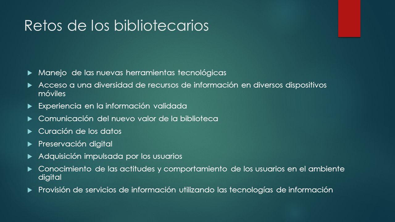 Retos de los bibliotecarios