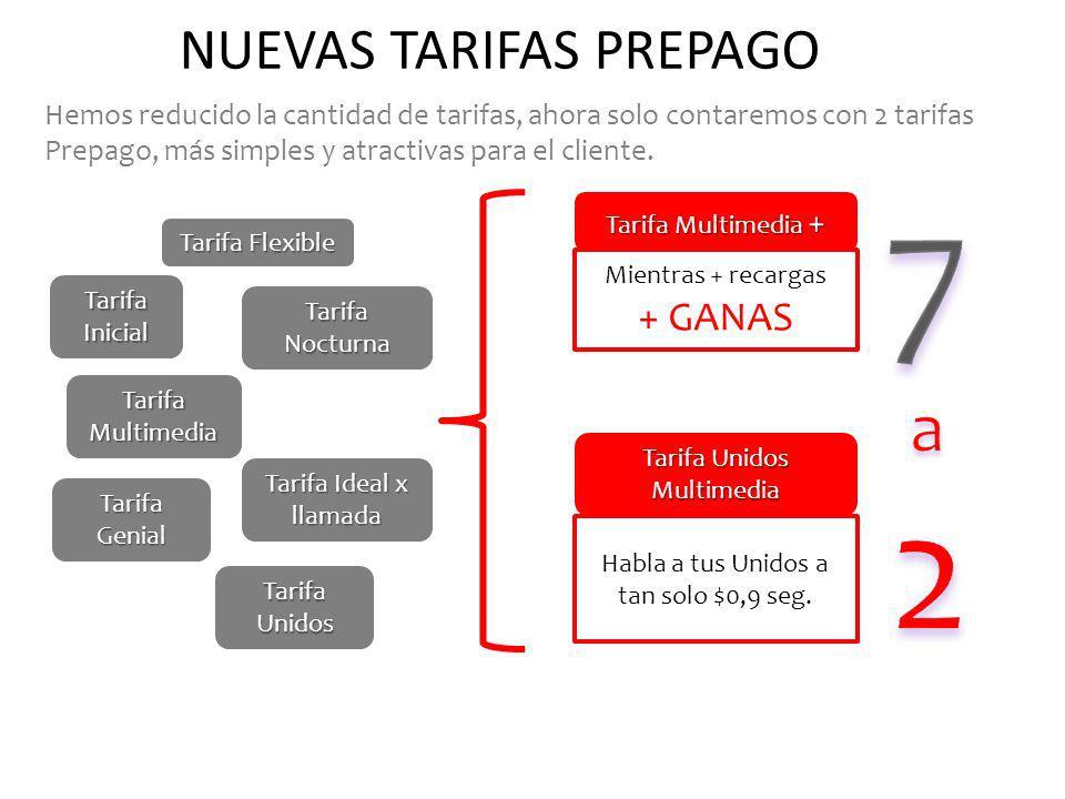 NUEVAS TARIFAS PREPAGO