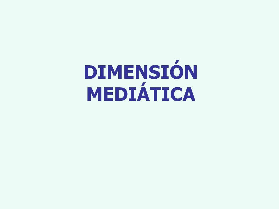 DIMENSIÓN MEDIÁTICA