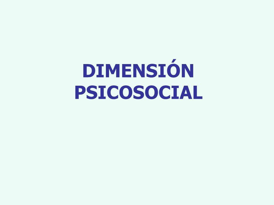 DIMENSIÓN PSICOSOCIAL