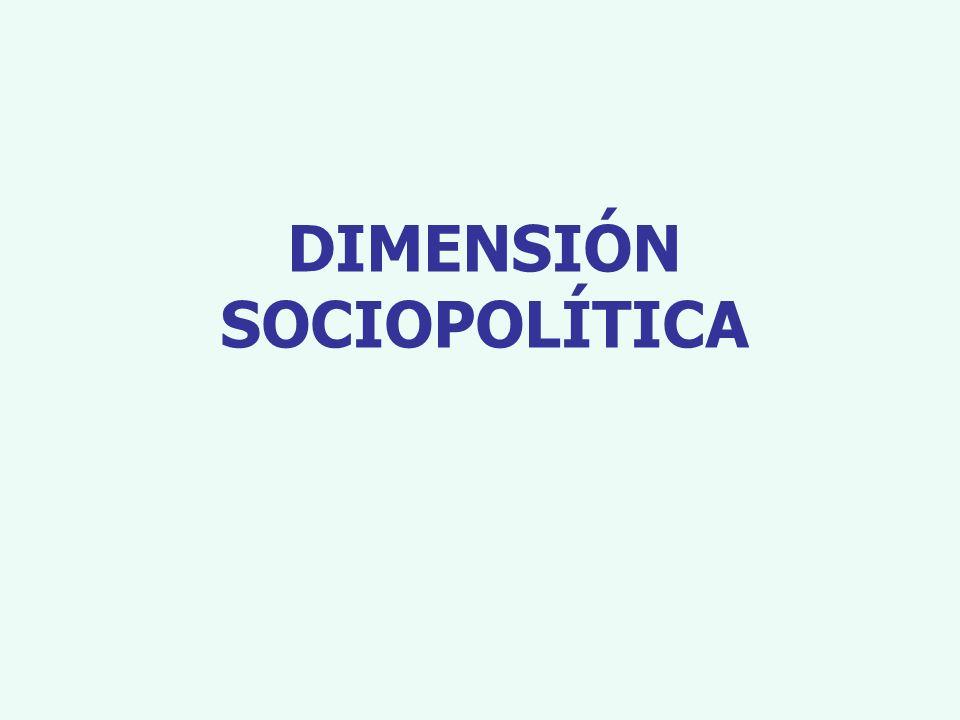DIMENSIÓN SOCIOPOLÍTICA