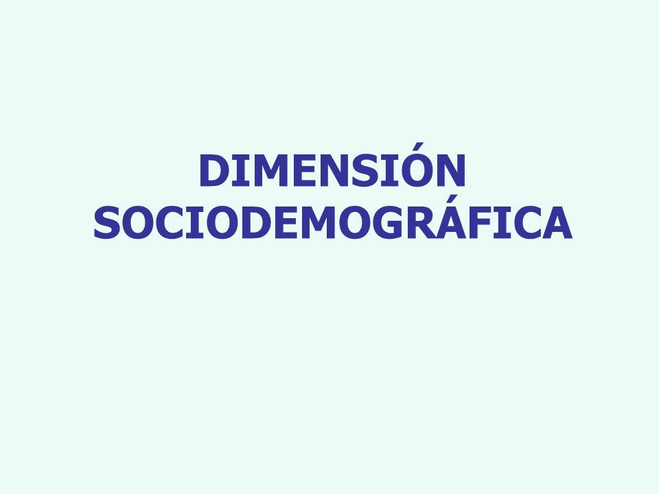 DIMENSIÓN SOCIODEMOGRÁFICA