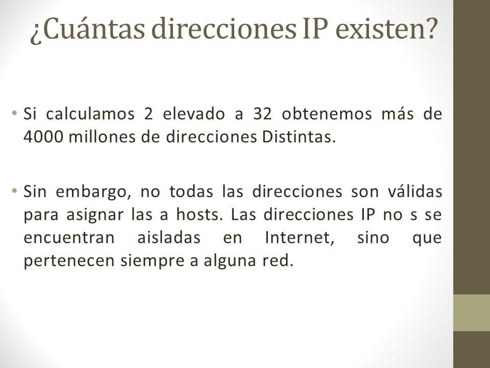 ¿Cuántas direcciones IP existen