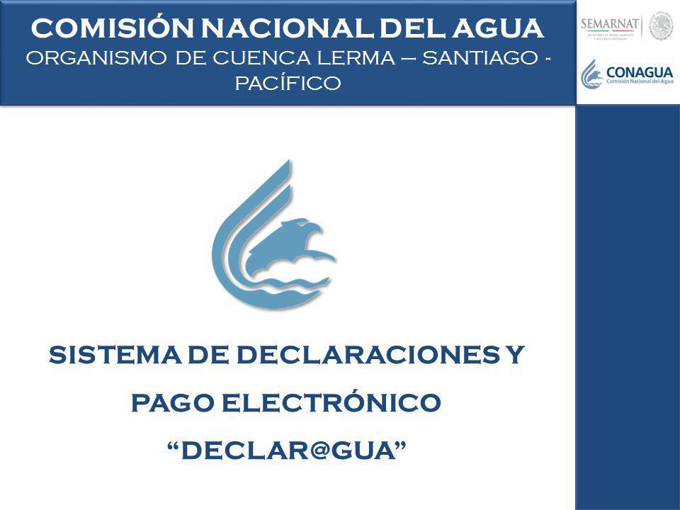 COMISIÓN NACIONAL DEL AGUA SISTEMA DE DECLARACIONES Y PAGO ELECTRÓNICO