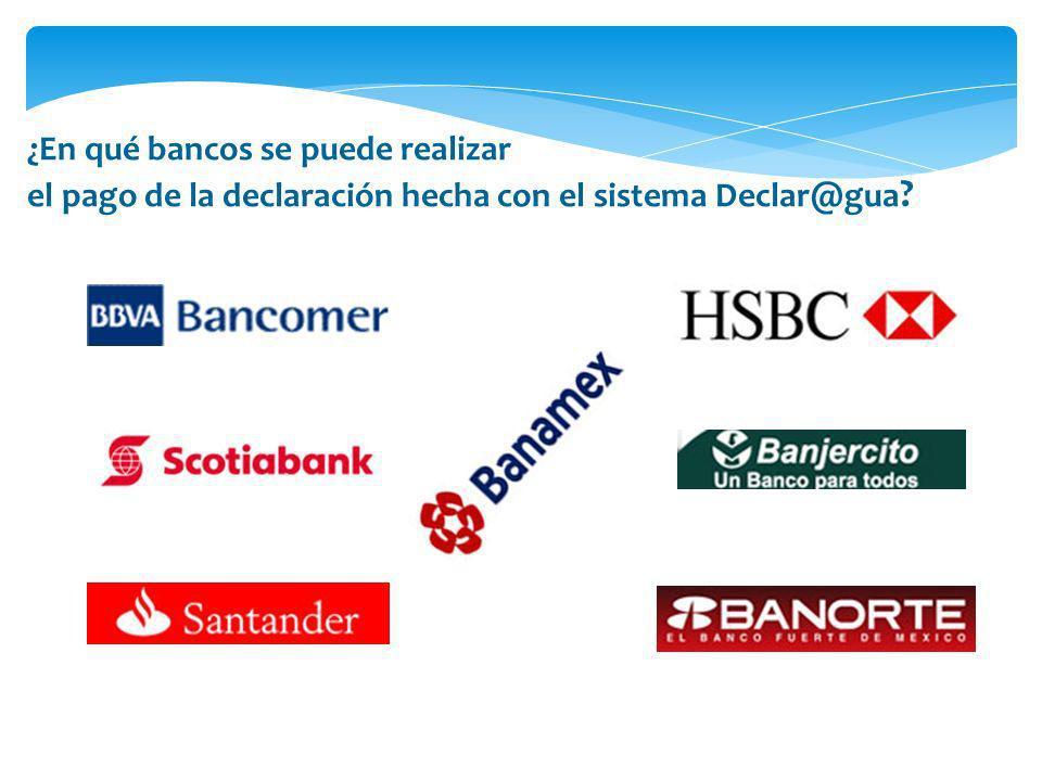 ¿En qué bancos se puede realizar