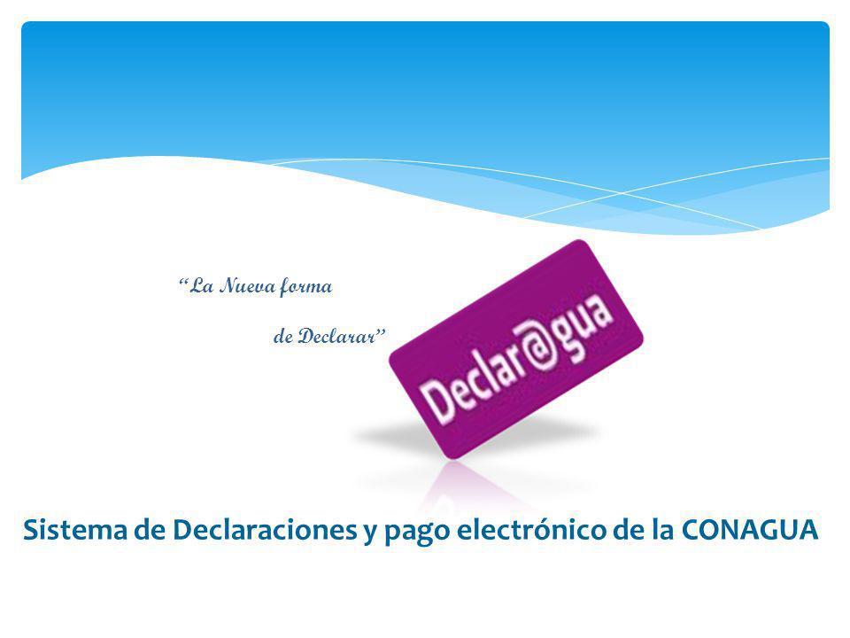 Sistema de Declaraciones y pago electrónico de la CONAGUA
