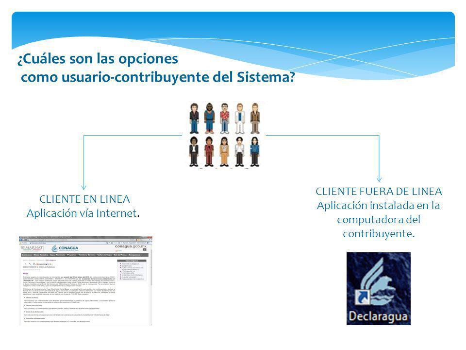 ¿Cuáles son las opciones como usuario-contribuyente del Sistema