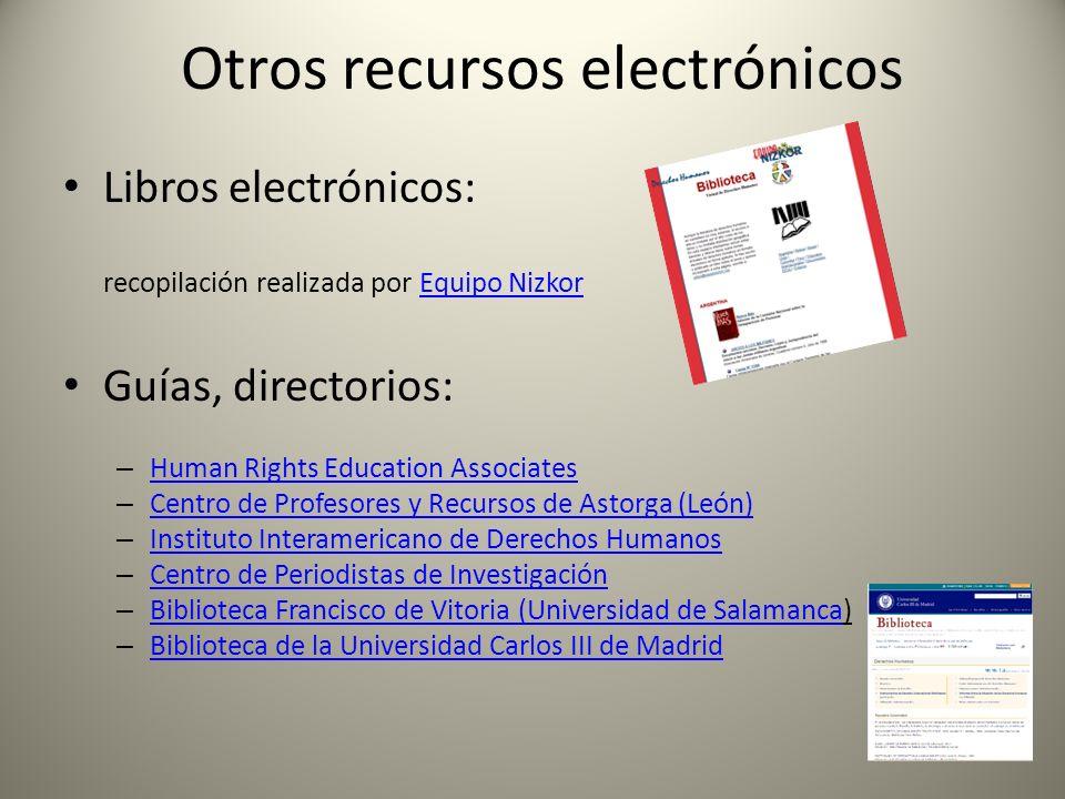 Otros recursos electrónicos
