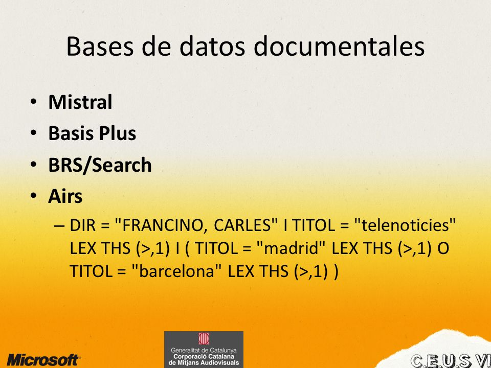 Bases de datos documentales