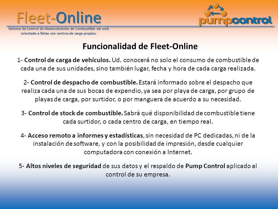 Funcionalidad de Fleet-Online