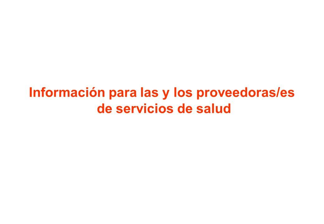 Información para las y los proveedoras/es