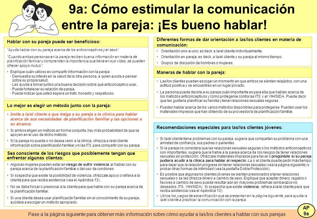 9a: Cómo estimular la comunicación entre la pareja: ¡Es bueno hablar!