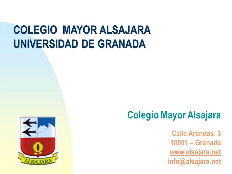 COLEGIO MAYOR ALSAJARA UNIVERSIDAD DE GRANADA