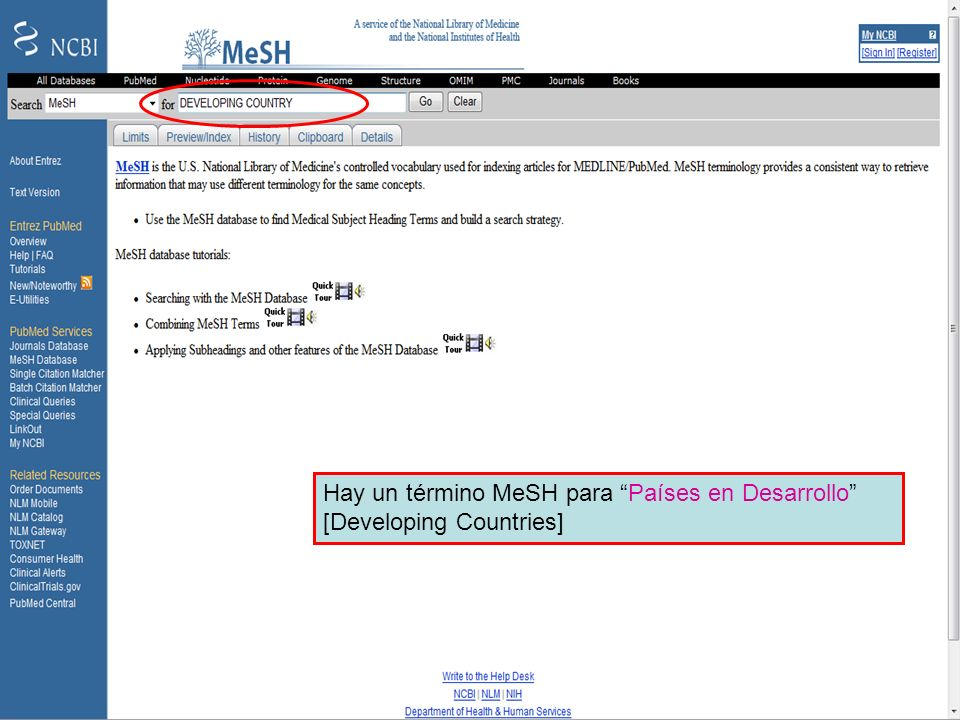 MeSH – Developing countries 1