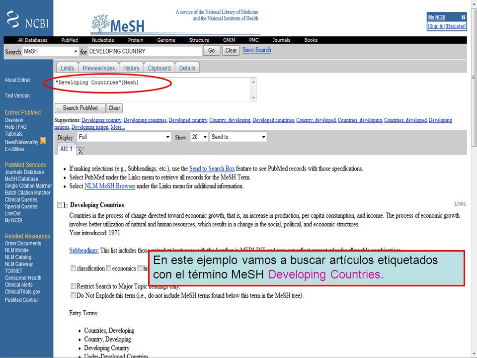 MeSH – Developing countries 4