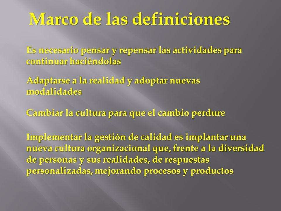 Marco de las definiciones