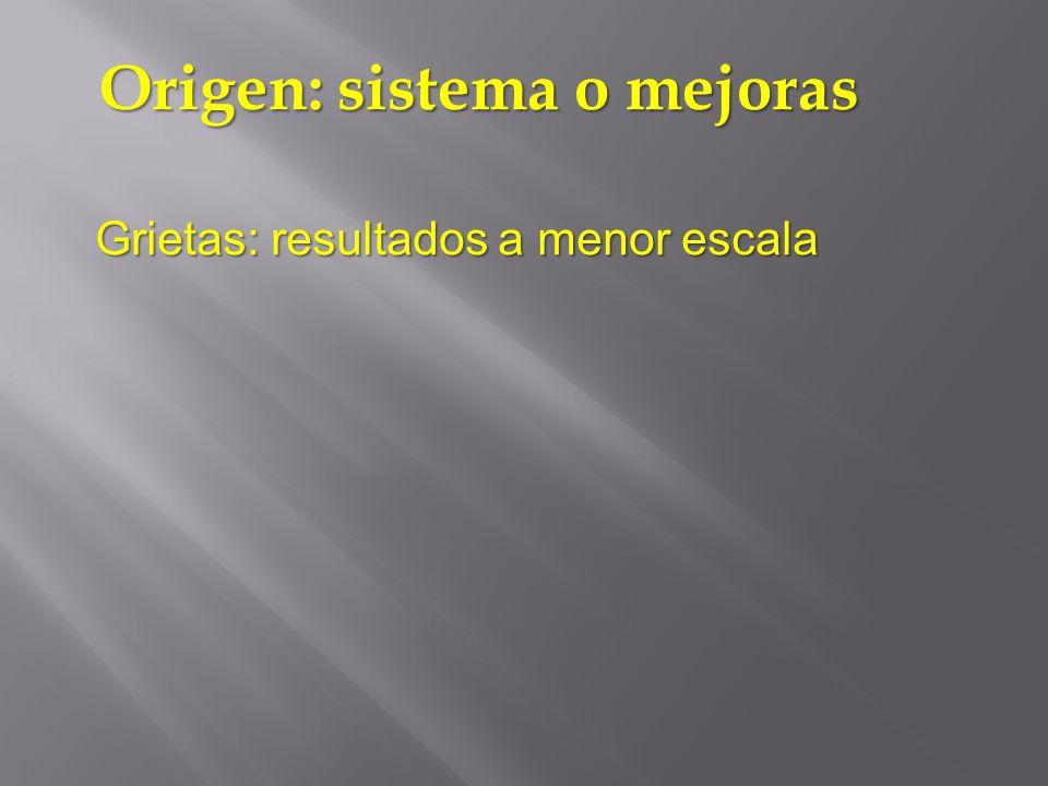 Origen: sistema o mejoras