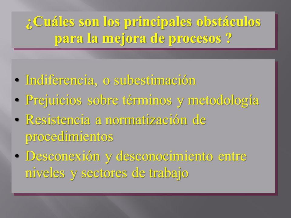 ¿Cuáles son los principales obstáculos para la mejora de procesos