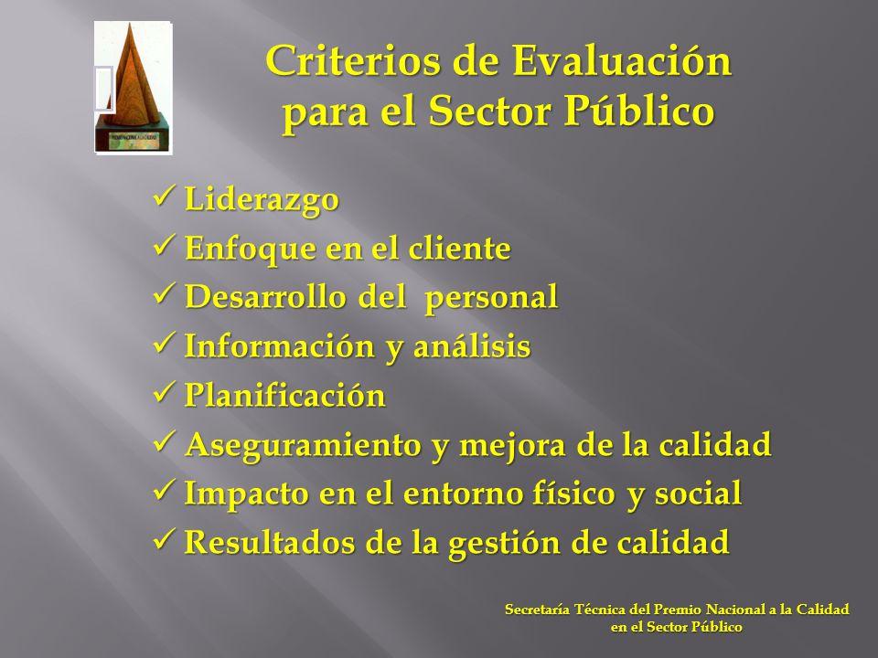 Criterios de Evaluación para el Sector Público