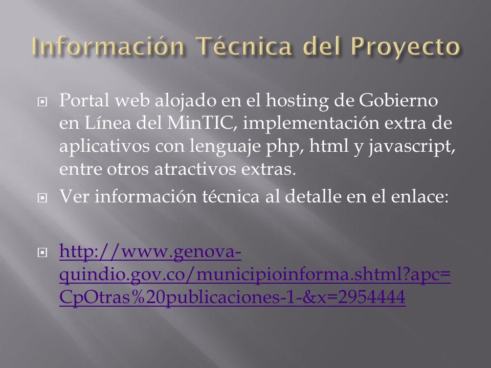 Información Técnica del Proyecto