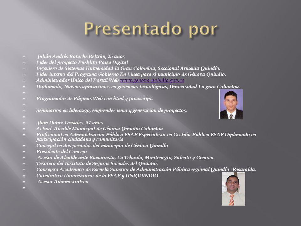 Presentado por Julián Andrés Botache Beltrán, 25 años