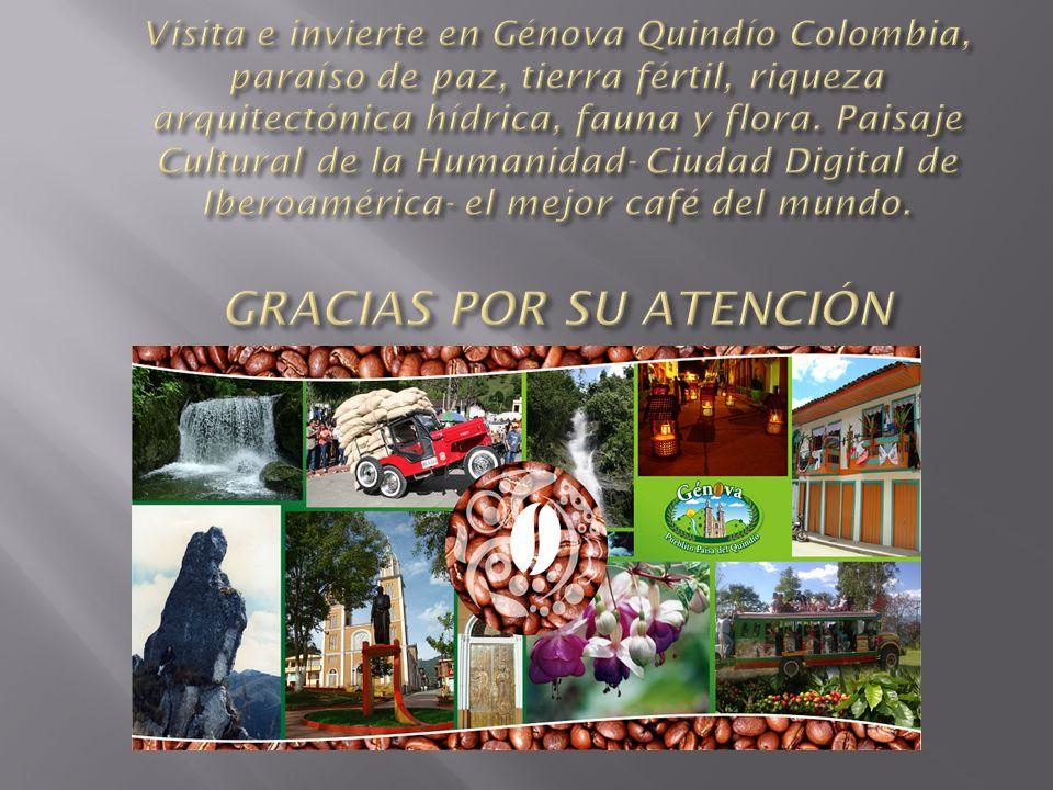 Visita e invierte en Génova Quindío Colombia, paraíso de paz, tierra fértil, riqueza arquitectónica hídrica, fauna y flora.