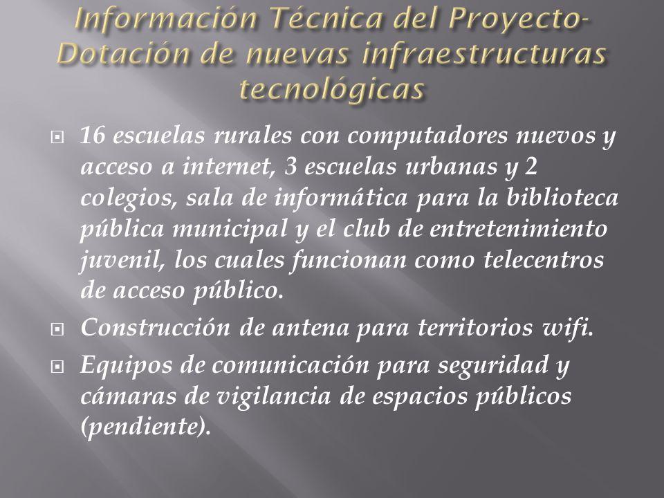 Información Técnica del Proyecto-Dotación de nuevas infraestructuras tecnológicas