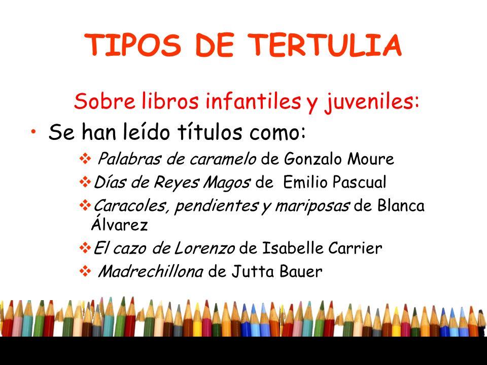 Sobre libros infantiles y juveniles: