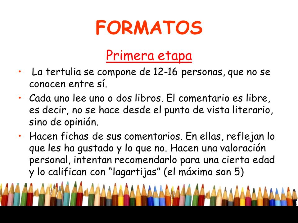 FORMATOS Primera etapa