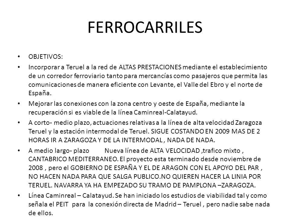 FERROCARRILES OBJETIVOS: