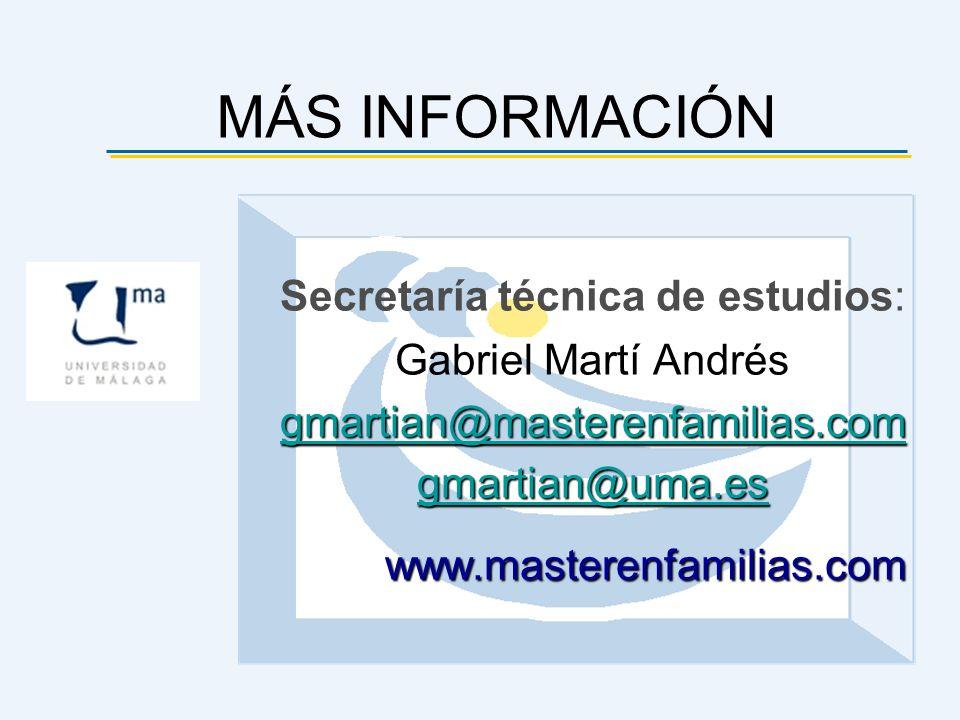 Secretaría técnica de estudios: