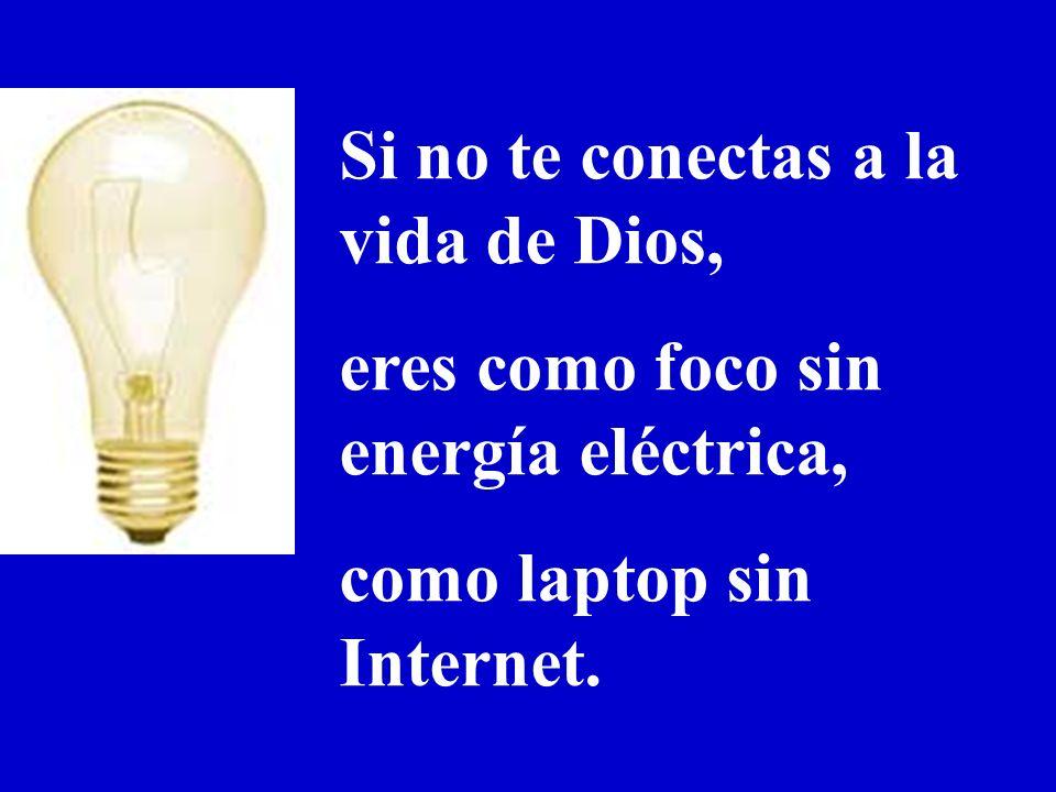 Si no te conectas a la vida de Dios,