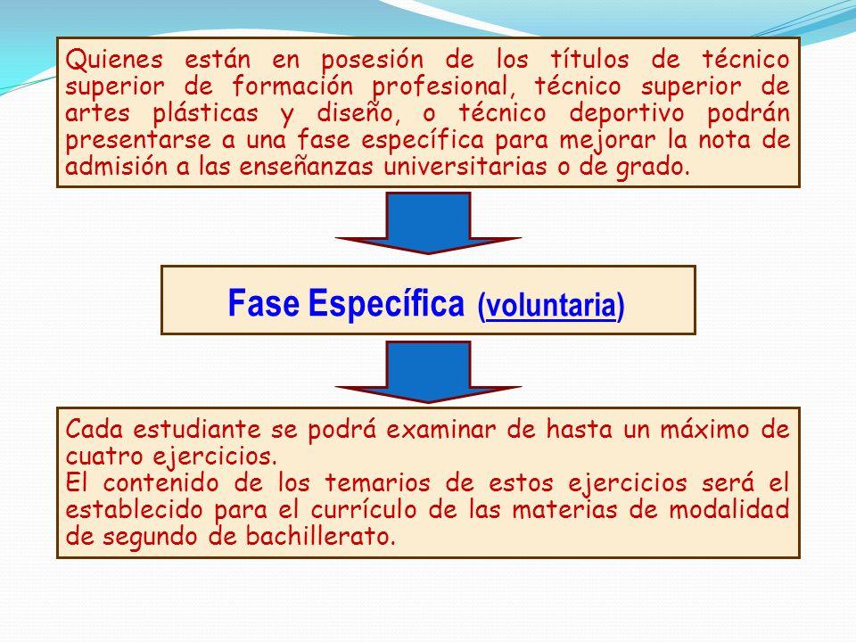 Fase Específica (voluntaria)