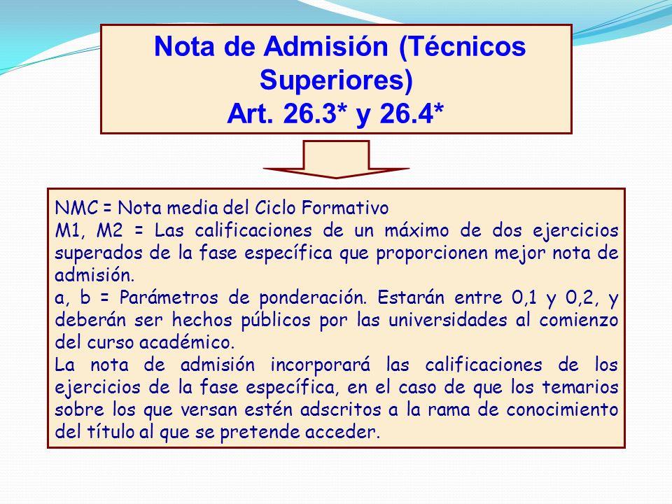Nota de Admisión (Técnicos Superiores)