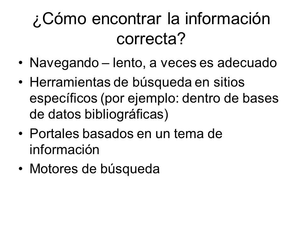 ¿Cómo encontrar la información correcta