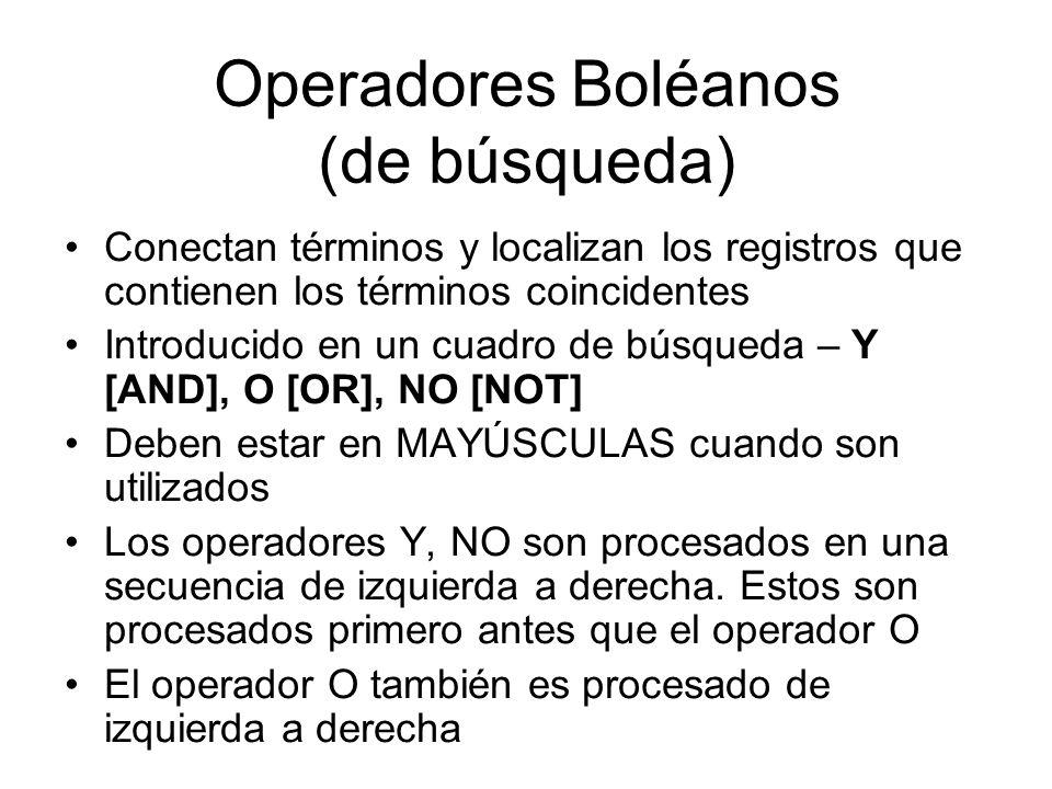 Operadores Boléanos (de búsqueda)