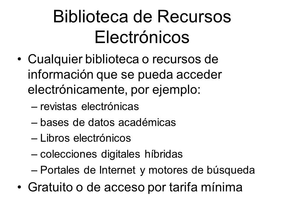 Biblioteca de Recursos Electrónicos