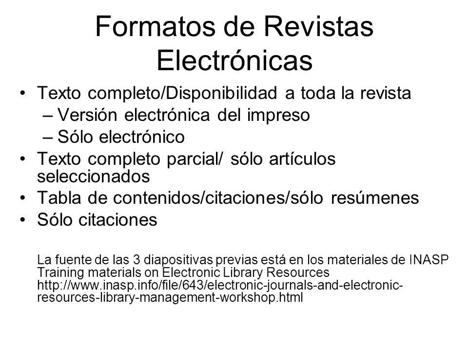 Formatos de Revistas Electrónicas