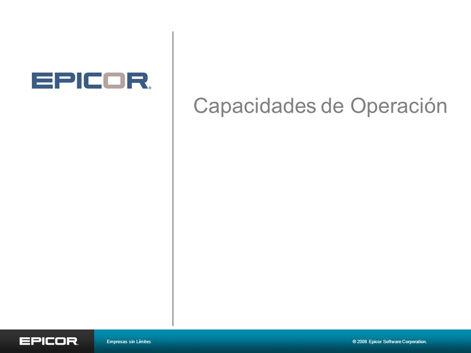 Capacidades de Operación