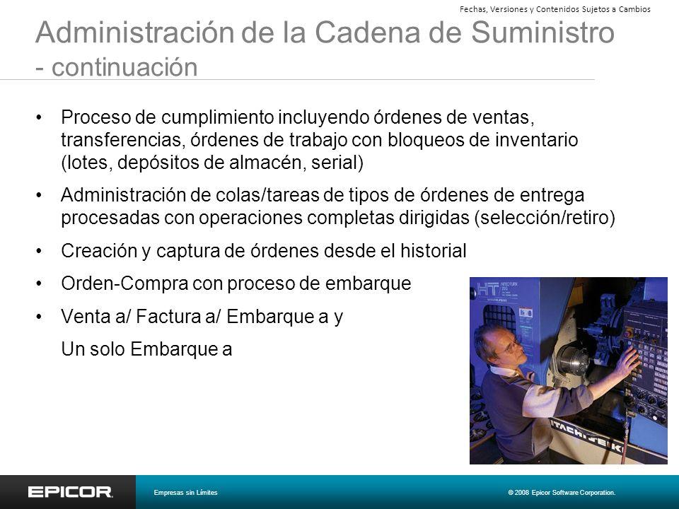 Administración de la Cadena de Suministro - continuación