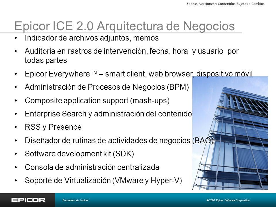Epicor ICE 2.0 Arquitectura de Negocios