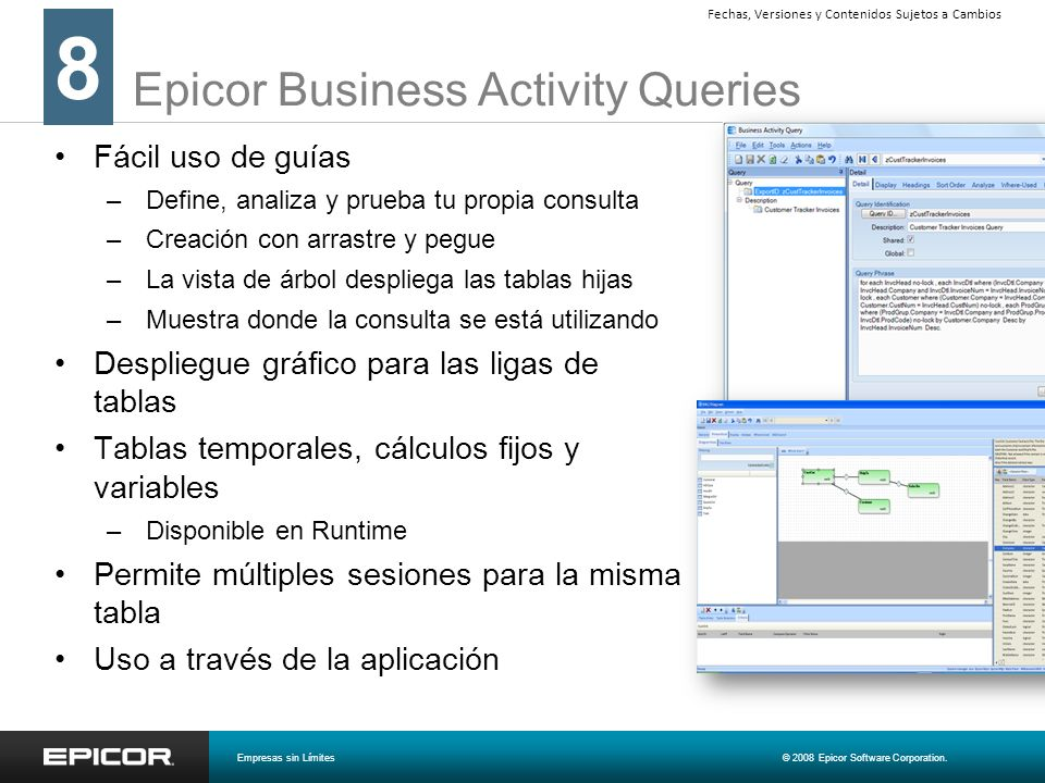 Epicor Business Activity Queries