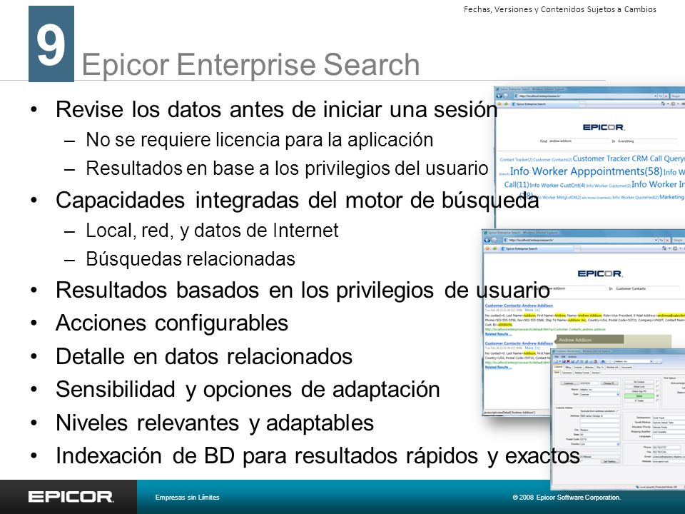 Epicor Enterprise Search