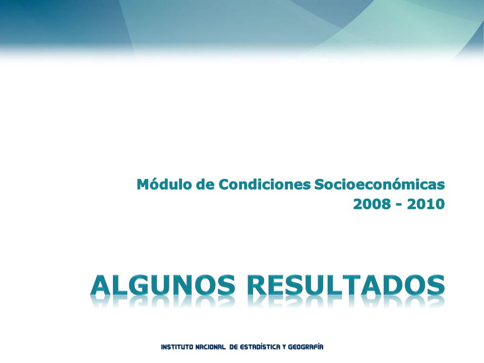 Módulo de Condiciones Socioeconómicas