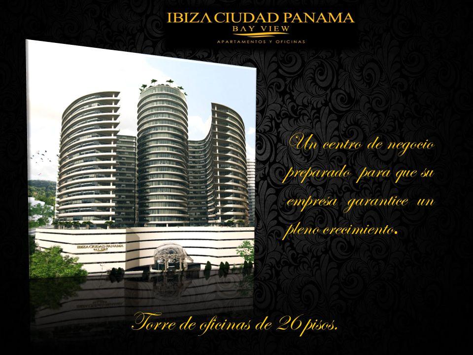 Torre de oficinas de 26 pisos.