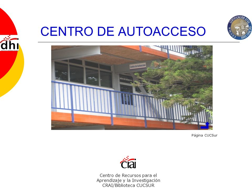 CENTRO DE AUTOACCESO Página CUCSur.